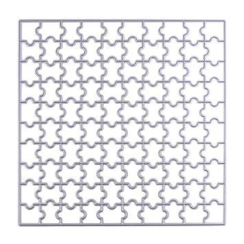 broadroot Puzzle plantillas de corte 150 mm cuadrado sello de DIY Scrapbooking/álbum de fotos: Amazon.es: Hogar