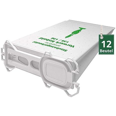 12 bolsas de tela bolsas Aspiradora para Vorwerk Kobold 135 ...