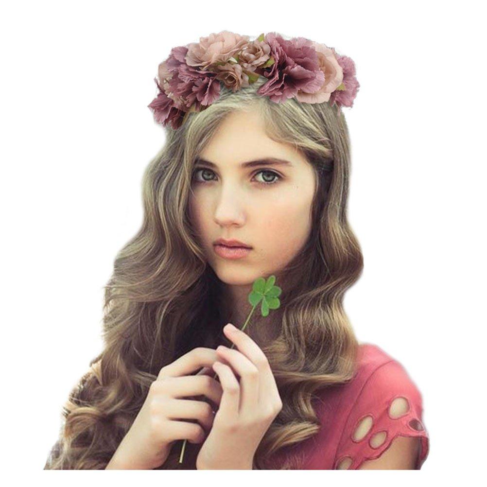 Jelinda diadema corona tocado de flores para novias accesorios disfraces para fiestas