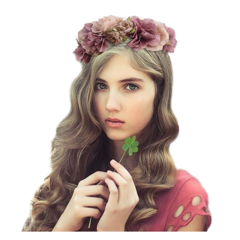 Flower crowns amazon jelinda women girls flower wreath headband floral crown garland izmirmasajfo