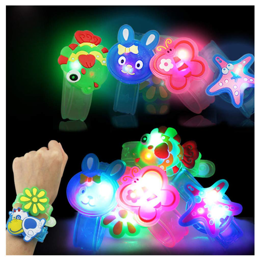 Wenini Kids Light Flash Toys Cartoon Animals Wrist Hand Take Dance Party Dinner Party Decor for Kids Gift Random (Random) by Wenini (Image #1)