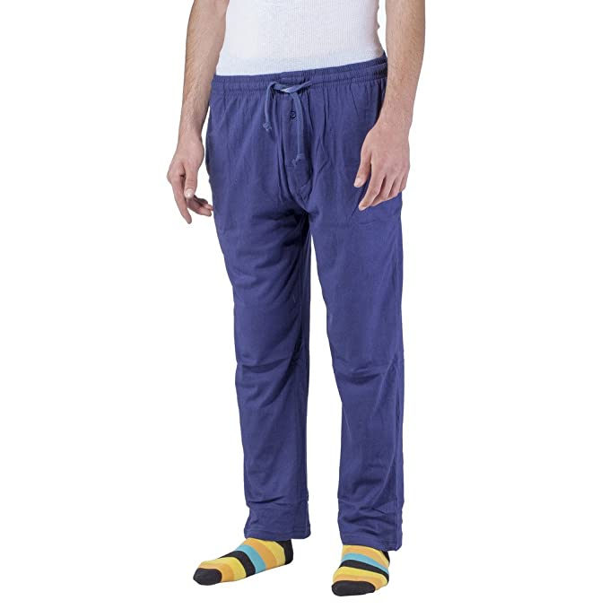 7199724a91328 Artic Pole Mens Lounge Pants Soft Jersey Cotton Pajama Bottoms with Pockets  (Small, Navy