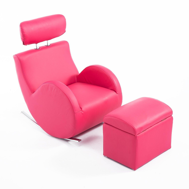 """Amazon Qaba 31"""" Kids PU Leather Rocking Chair and Ottoman Set"""