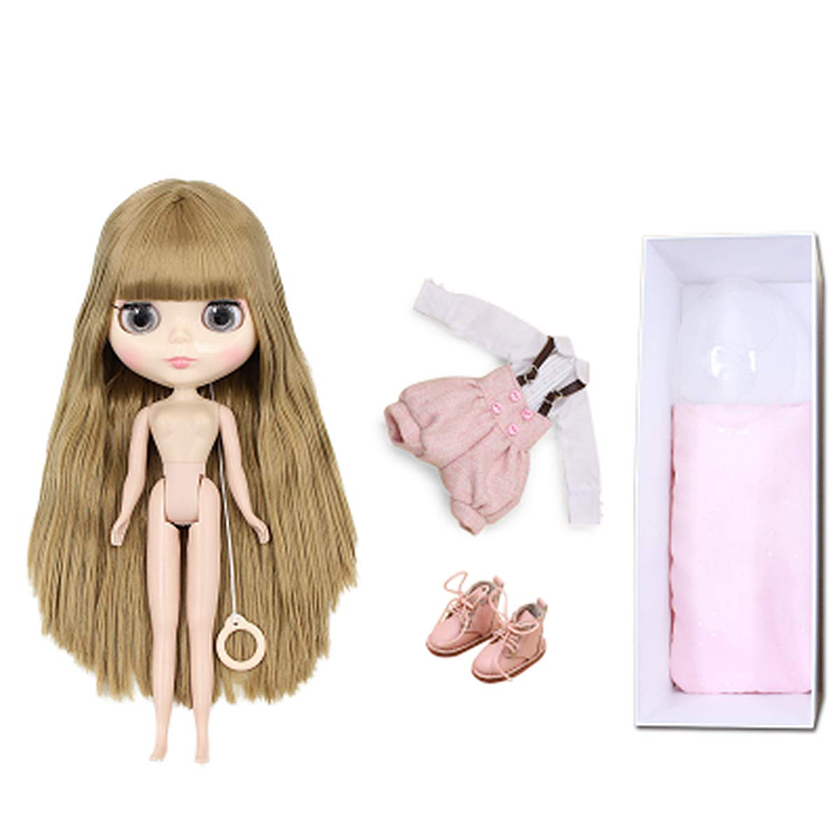 rosecourtes 7joints Aegilmc BJD Dolls Blythe Puppet, mode 1 6 SD 30Cm Ball Jointed Body Dolls, Blond Replaceable Big Eyes Hand Reborn Toy Surprise DIY Gift Make Up,bleucourtes,19joints
