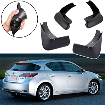 A-premium Splash Guards Mud Flaps Mudflaps for Lexus CT200h 2011-2013 Hatchback Except F Sport or Sport Luxury Model Front and Rear 4-PC Set