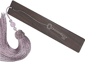 Sandalwood Bookmark,Delicate Gift Bookmarks,Unique Bookmark, Tassel Bookmark (Sandalwood)