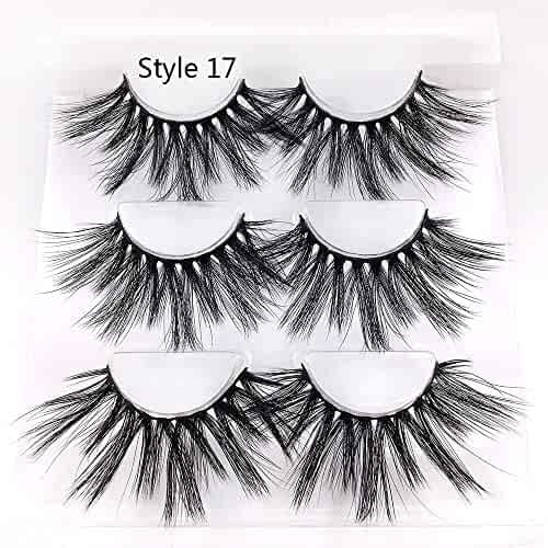 df8ca93a141 3 Pairs False Eyelashes Extension Beauty Makeup Thick Long Dramatic Wispy  Cross 3D Soft Mink Hair
