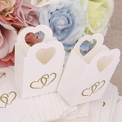 Matrimonio In Bianco E Nero : Pezzi scatole portaconfetti bomboniere con manico cuore