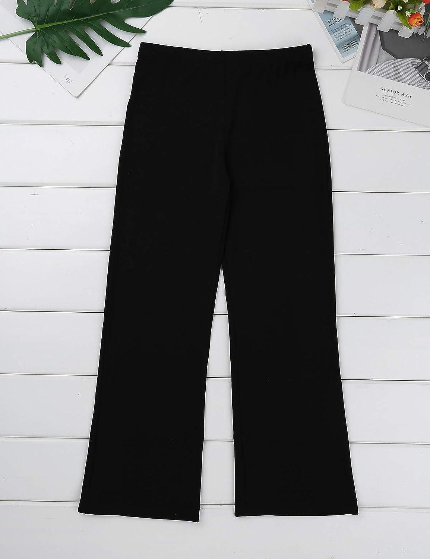 vastwit Kids Girls Boys Basic Classic Team Stretchy Loose Jazz Hip Hop Pants Dancewear Bootcut Latin Yoga Running Trousers