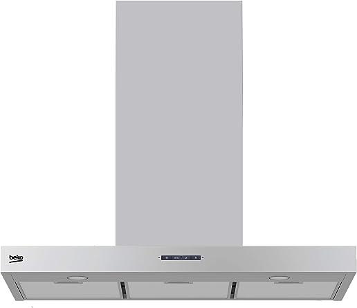 Beko HCB91731BX Campana decorativa 90 cm de ancho, 56 W, Acero Inoxidable: 134.76: Amazon.es: Grandes electrodomésticos