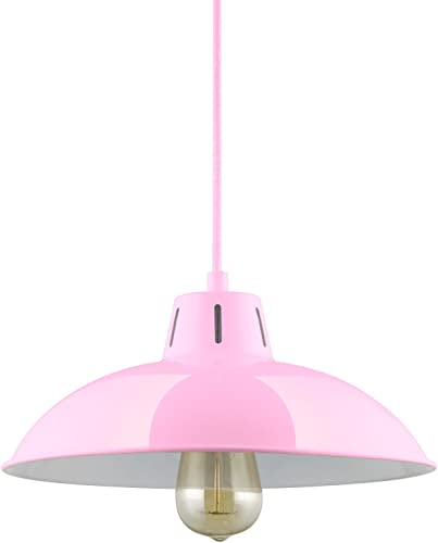 Sunlite CF PD V P Pink Vega Residential Ceiling Pendant Light Fixtures with Medium E26 Base