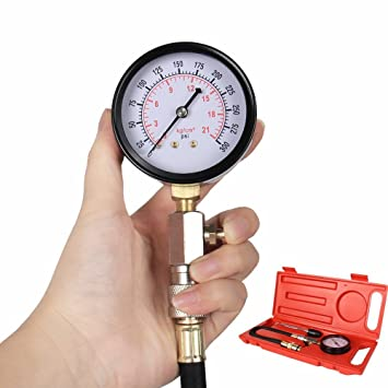 Heavy Duty 0 ~ 300 PSI Medidor de compresión de motor de gasolina probador de presión