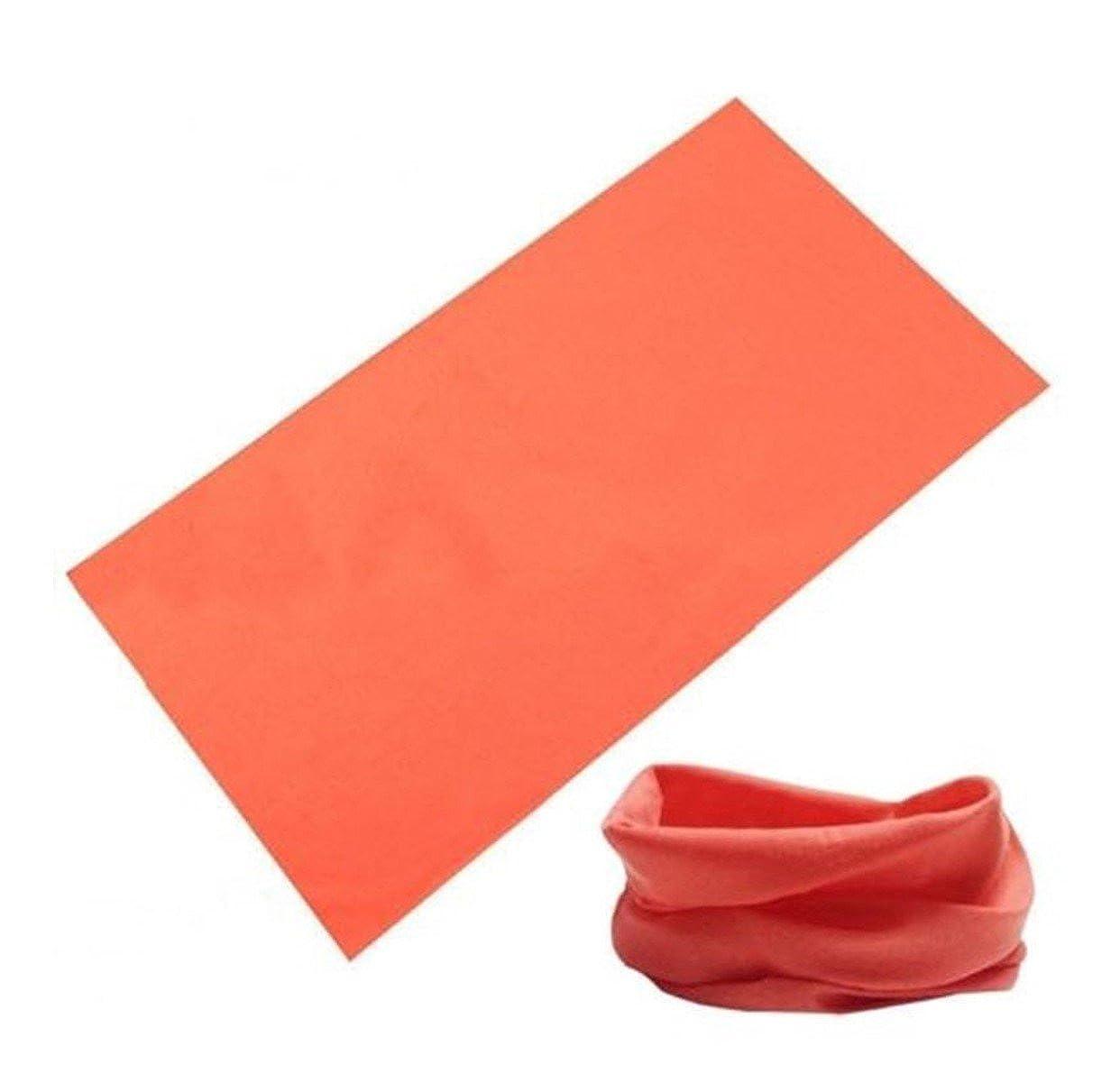 BazarAZ 1827 - [ARANCIONE] Scaldacollo Simple - in Cotone elasticizzato - Ideale per Adulti e Bambini - Unisex - Autunno Inverno Estate Primavera NDB1526