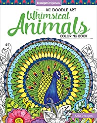 KC Doodle Art Whimsical Animals Coloring Book