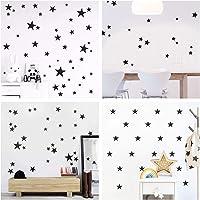WandSticker4U® - 60 x muursticker sterren in zwart I muursticker kinderkamer sterren stickers kinderen I muur deco…