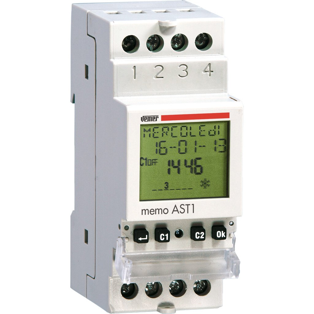 Vemer ve344800/Interruptor crepuscular Memo astron/ómico AST1/DIN 1/Programa Bar con Infrarrojos luz Gris