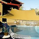 e.share 20' X 20' Sun Shade Sail Uv Top Outdoor Canopy Patio Lawn Square Desert Sand