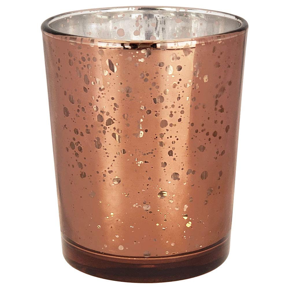 Just Artifacts (Bulk Mercury Glass Votive Candle Holder 2.75'' H (100pcs, Speckled Espresso) - Mercury Glass Votive Tealight Candle Holders for Weddings, Parties and Home Décor