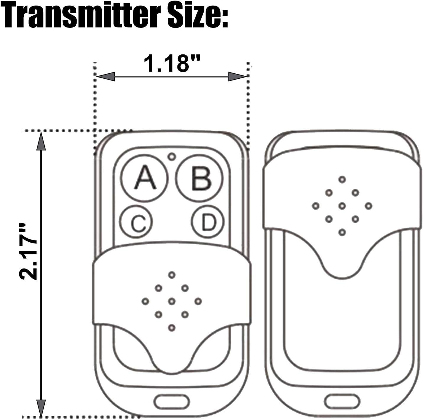2-button Rf Wireless Remote Transmitter 433mhz Home Improvement