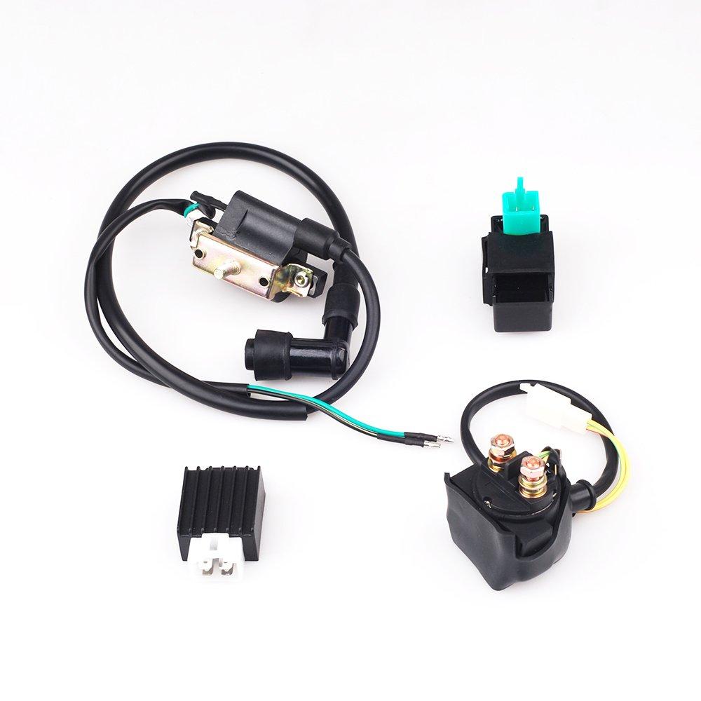 ATV Ignition Coil CDI Regulator Rectifier Relay 50 70 90 110 125cc Taotao Roketa CISNO
