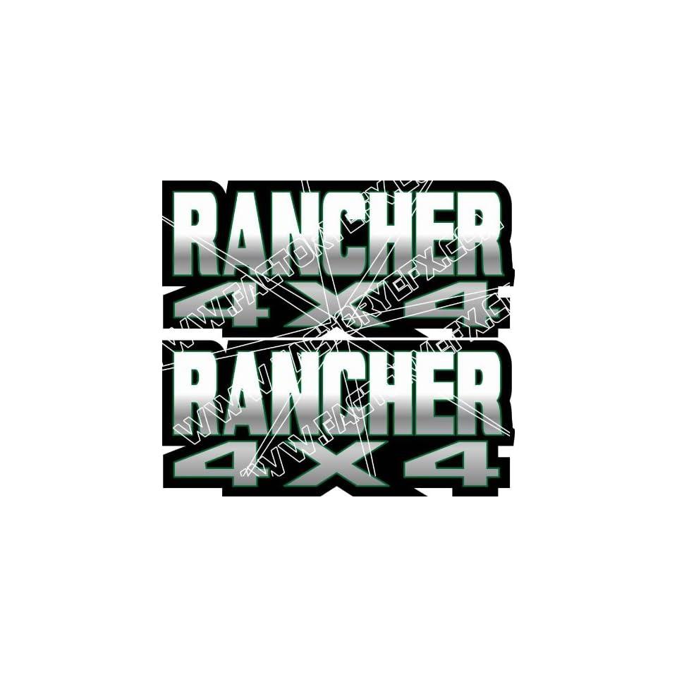 Honda Rancher Gas Tank Graphics Green 350 400 420 4x4