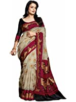 Vipul Women's Minakari Silk Saree (11447 _Red)