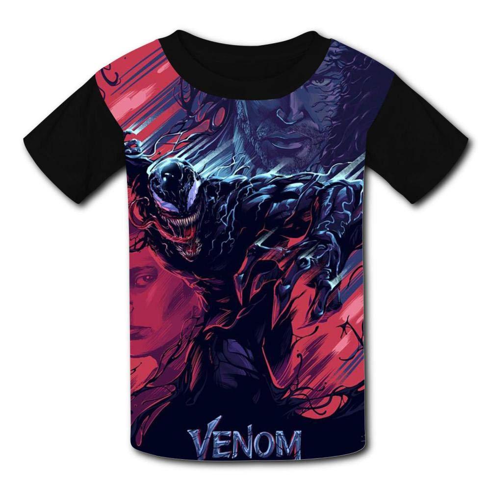 HOOPNUA Youth Venom T-Shirt Fashion Crew Neck Short Sleeve Tee Polo Shirt