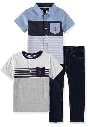 U.S. Polo Assn. Pantalones de chándal de 3 Piezas de Manga Larga ...