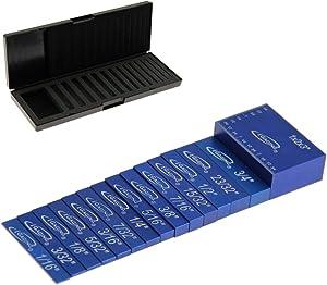 iGaging Setup Block Bar Gauge Precision Aluminum 15 piece for Woodworking