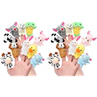 Styleys Fabric Animal Finger Puppets for Kids (Pack of 20)