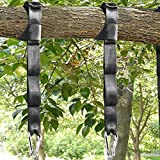 Tree Swing Straps Kit-Two 5ft Adjustable (20loops total ) Straps Hold 2000lbs,And Two Heavy Duty Carabiners (Stainless Stell),Easy & Fast Swing Hanger Installation To Tree , 100% Non-Stretch.