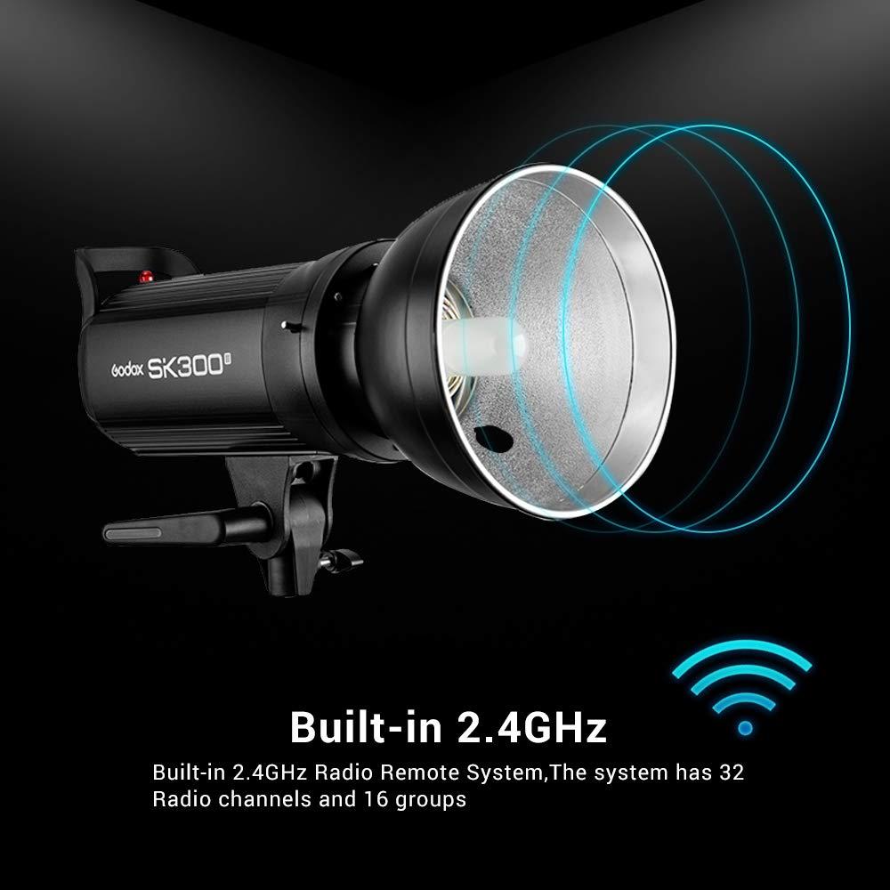 Godox SK300II Studio Strobe 300Ws GN65 5600K Bowens Mount Monolight, Built-in Godox 2.4G Wireless System, 150W Modeling Lamp, Outstanding Output Stability, Anti-Preflash, 1/16-1/1 40 Steps Output by Godox (Image #4)