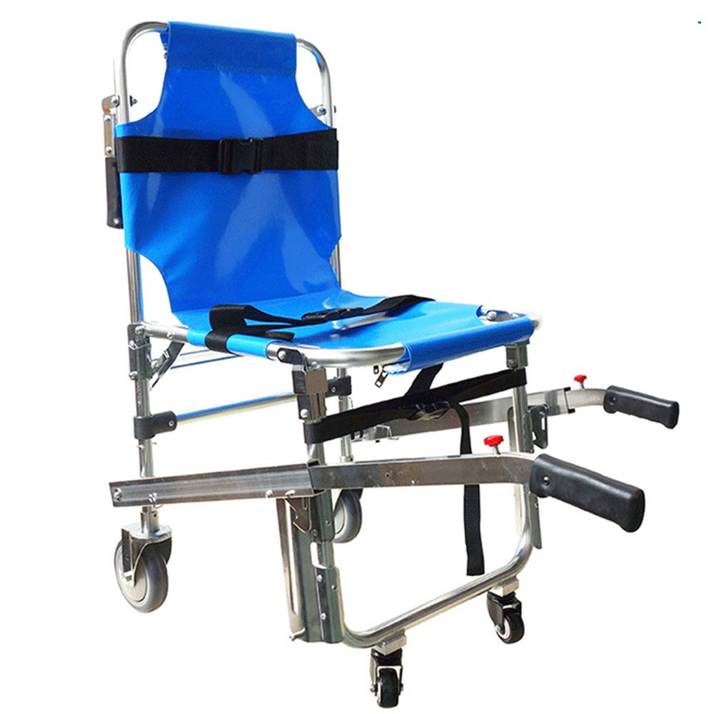 QETU Stair Evacuation Chair, Light-Weight Foldaway Manual Emergency Evacuation Chairs for Stairs with Two Wheels by QETU