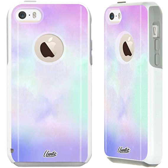 big sale 35bb3 73010 Unnito iPhone 5C Case – Hybrid Commuter Case | Slim Cover with Hard Shell  Design and Soft Inner Layer Compatible with iPhone 5C White Case - Pastel  ...