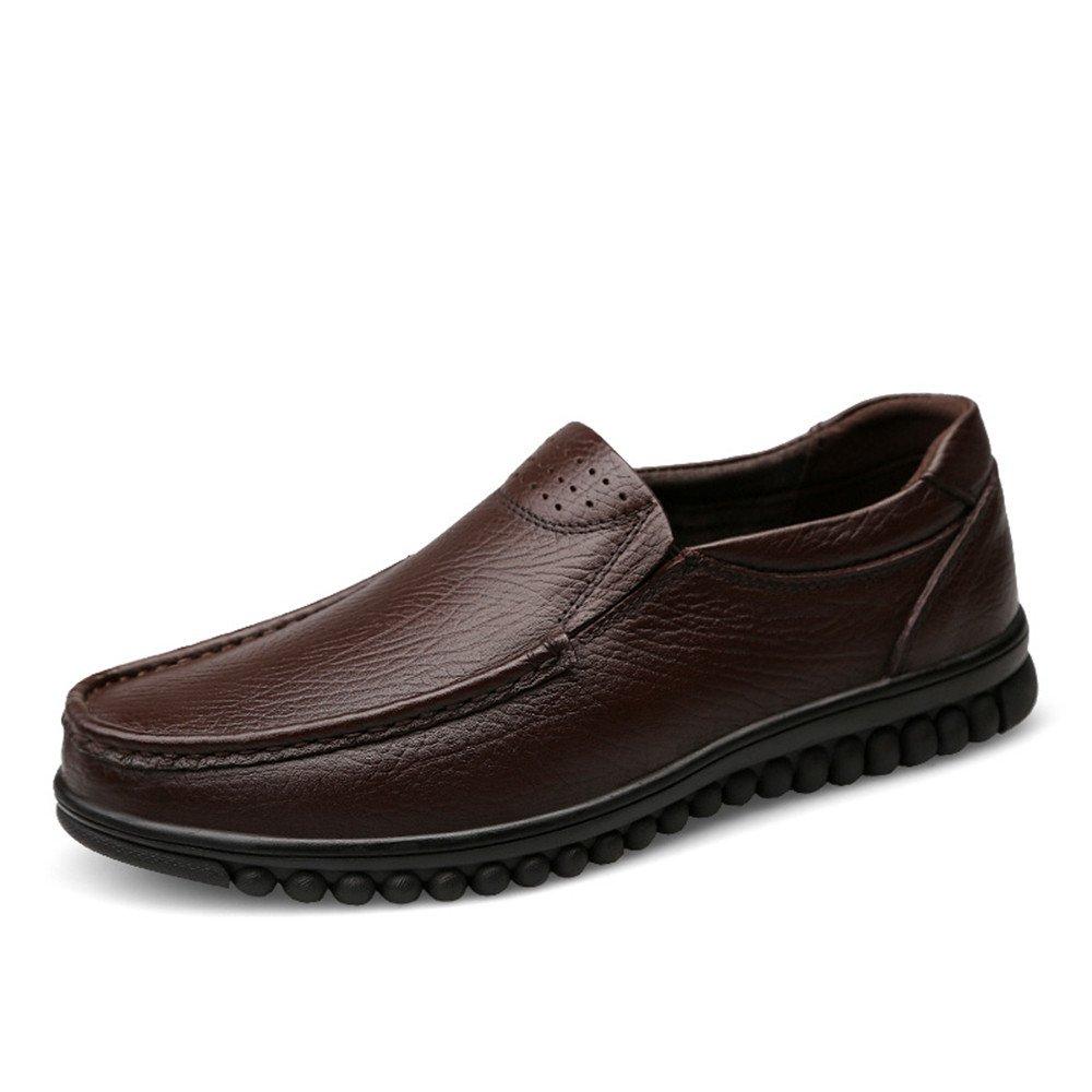 Schwarz CHENDX Schuhe, Men'sFashion Driving Style Loafer Wave Sohle Sohle Sohle Mokassins Leder Hollywood Schuhe (Farbe   Schwarz, Grou ;szlig;e   42 EU) 57a