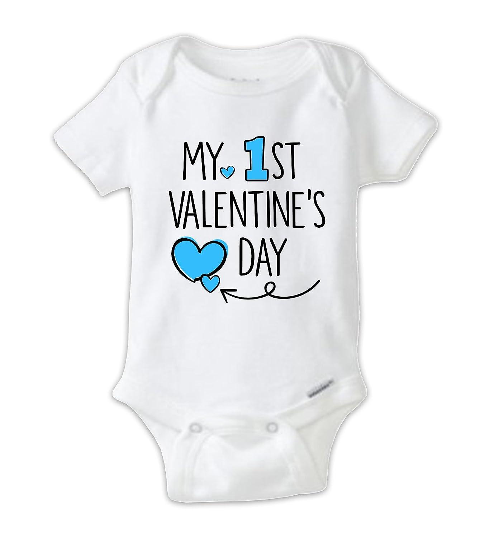 Juju Apparel My 1st Valentine S Day Blue Baby Boy Bodysuit