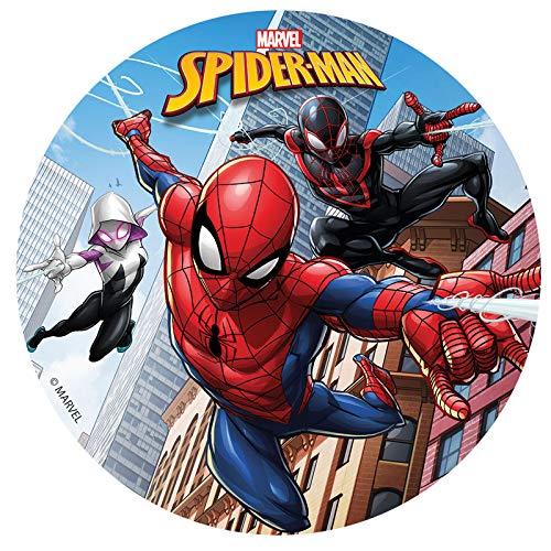 Dekora - Disco Comestible para Tarta Infantil de Spiderman de 16 cm de Diametro: Amazon.es: Alimentación y bebidas