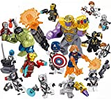 (US) Heroes Set, 16 Pieces Minifigures, Heroes Fighting with Accessories, Building Blocks Action Figures Toy, Kids Gift 0332