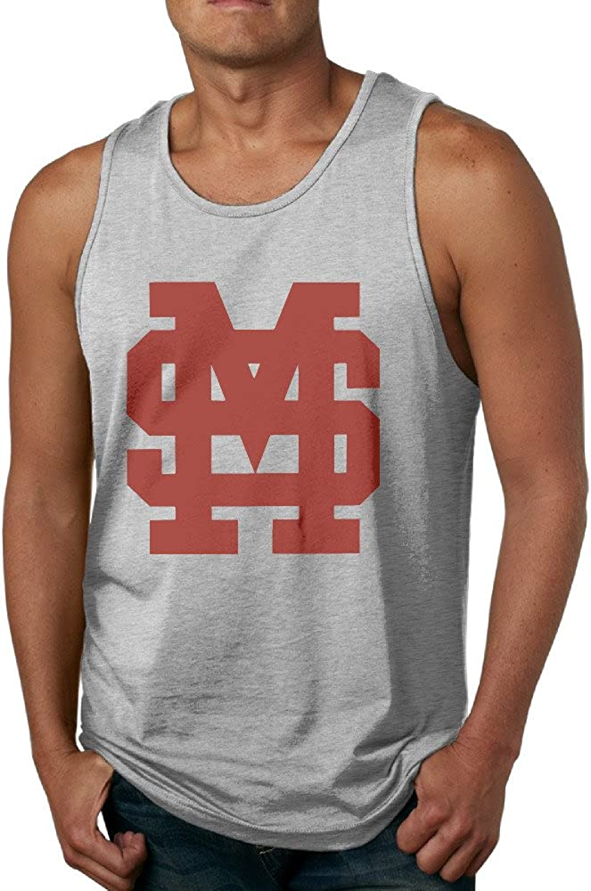 SAXON13 Cool Vest For Men Mississippi University Bulldogs Ash