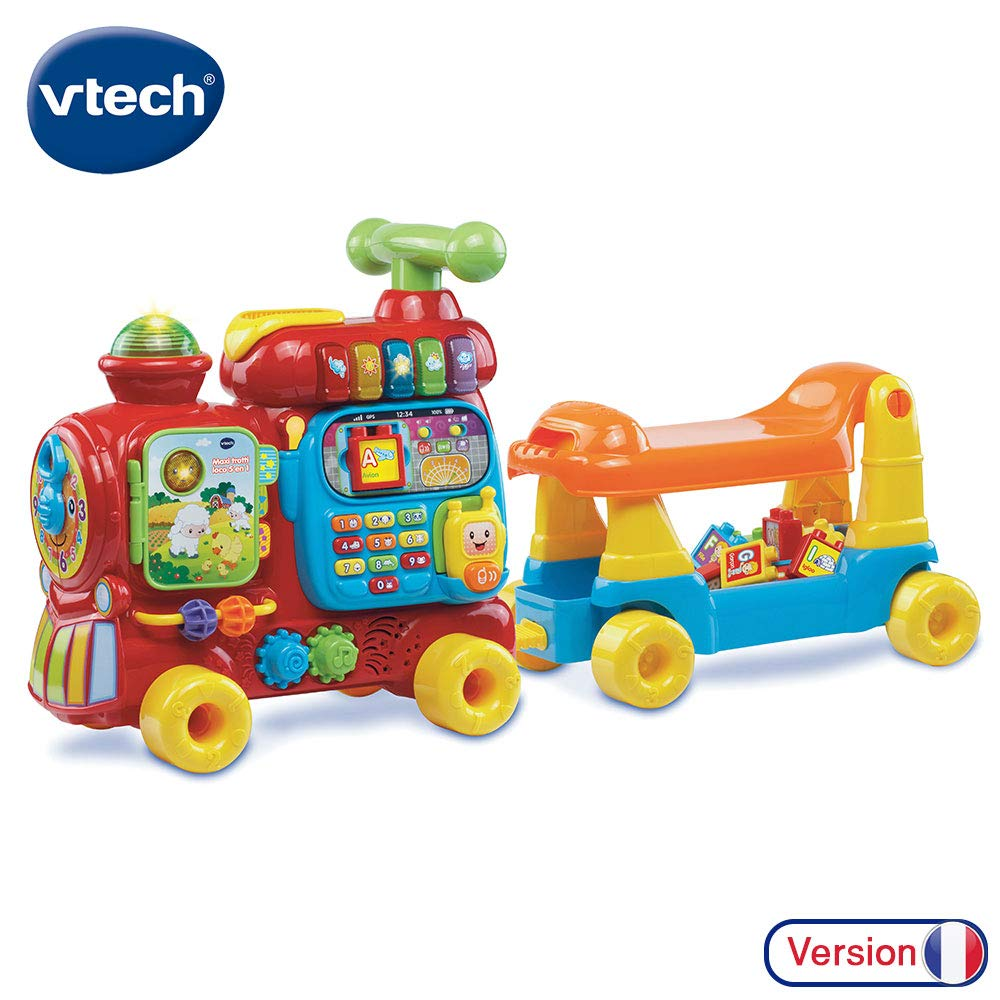 VTech Baby - Jueguete Educativo electrónico Maxi Tren 5 en 1,, versión Francesa