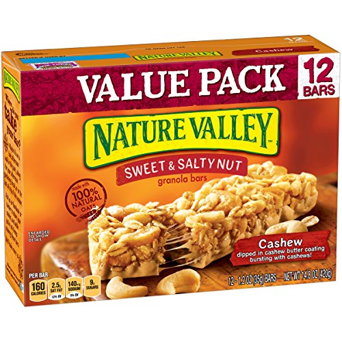 (Nature Valley Granola Bars, Sweet & Salty Nut, Cashew, 12 Bars, 1.2 oz)