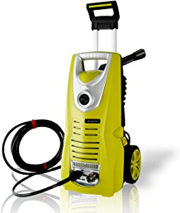 CHAKOR SLPRWAS46.5 Electric Pressure Washer Heavy Duty 1800PSI Manual Adjustable High Low Cold Water Sprayer System and Rolling Wheels-Power Wash Spray Clean Concrete Driveway Car Home