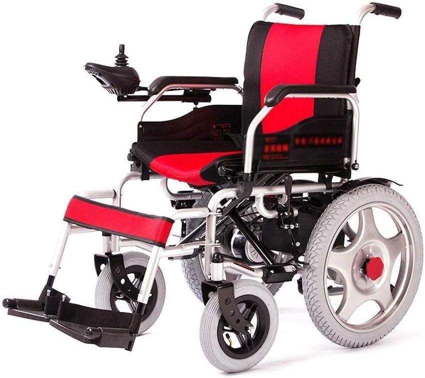 FTFTO Inicio Accesorios Ancianos Discapacitados Silla de Ruedas eléctrica Ancianos Scooter Discapacitados Andador - Silla de Ruedas roja