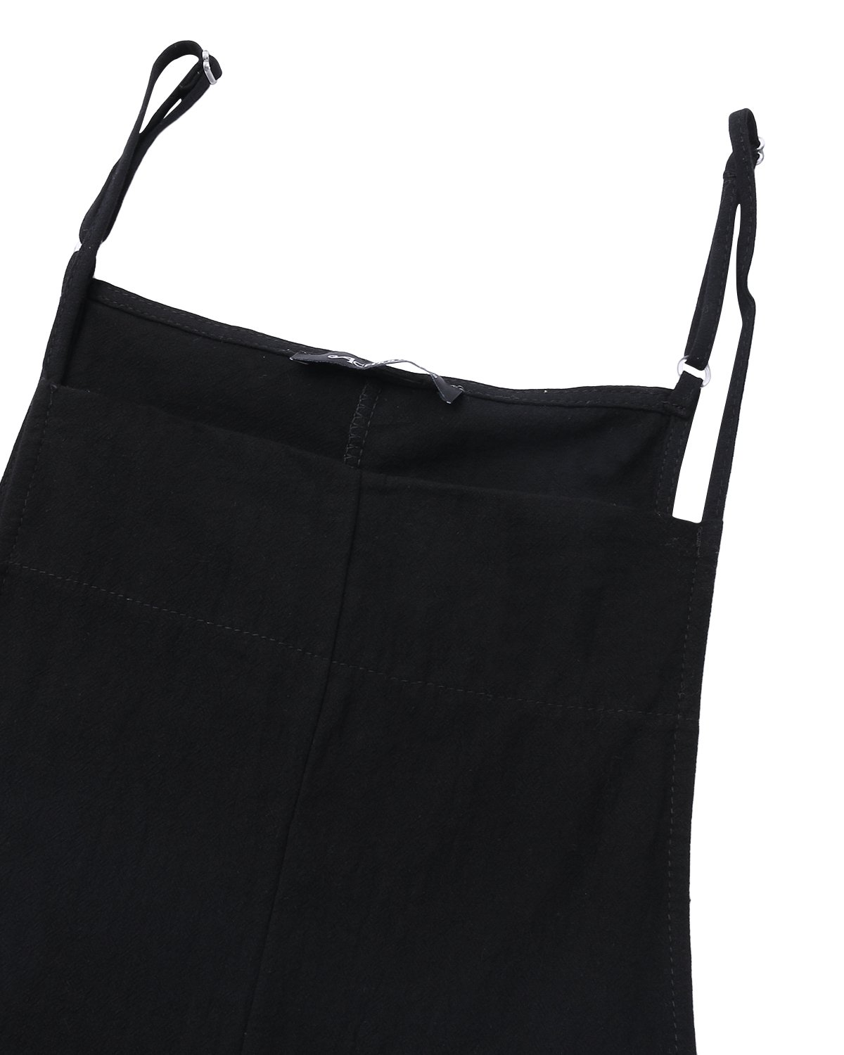StyleDome Fashion Women Casual Loose Cotton Solid Jumpsuit Long Suspender Overalls Bib Pants Plus Size Romper Black Small by StyleDome (Image #4)