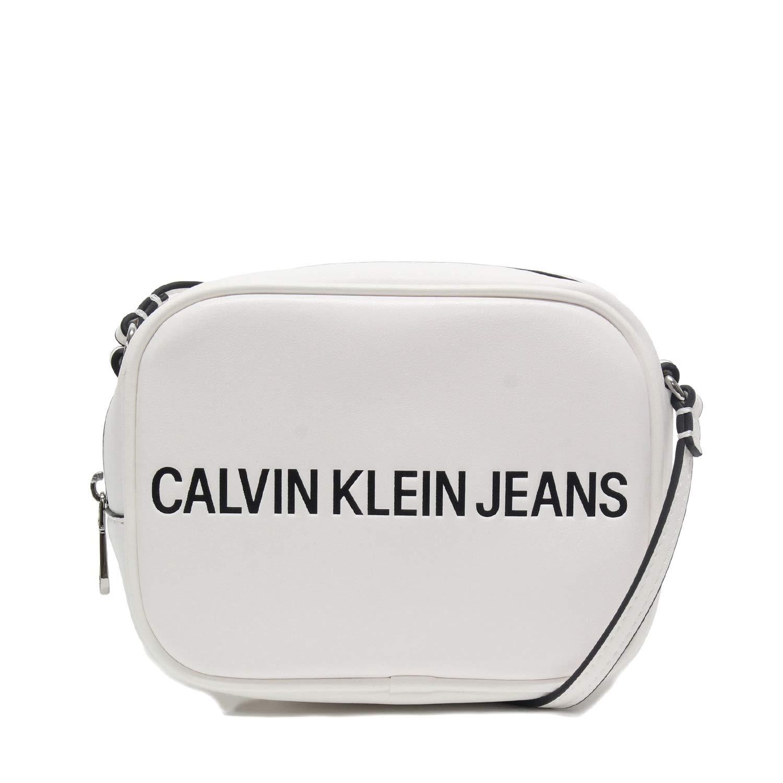 (カルバンクラインジーンズ)Calvin Klein Jeans CAMERA BAG ロゴ入り ショルダーバッグ【ホワイト】K60K605247 102 [並行輸入品]   B07RBKGCZP