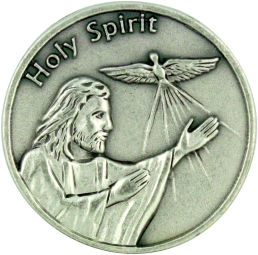 Life is a Journey Jesus Christ with Holy Spirit Dove Pocket Token