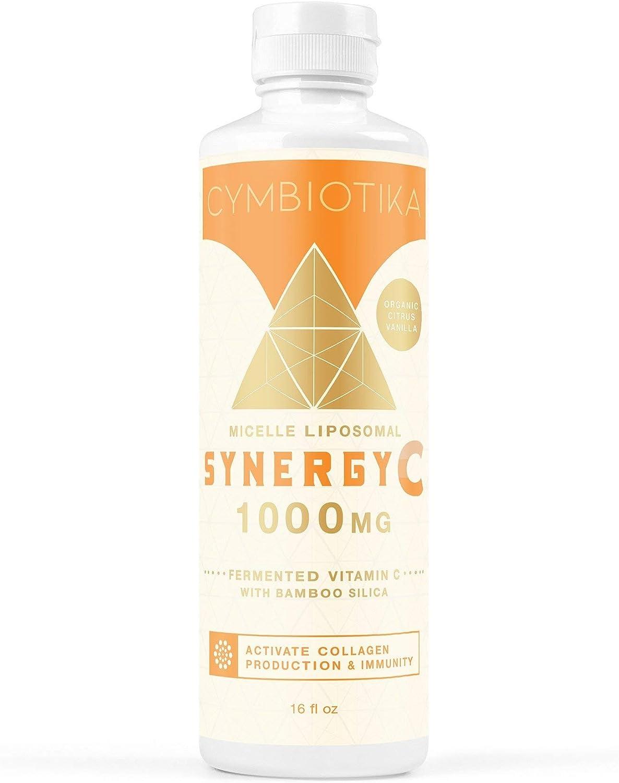 Cymbiotika - Synergy Liposomal Vitamin C - Fermented Vitamin C + Bamboo Silica - Immune Support + Collagen Production - 16 Oz