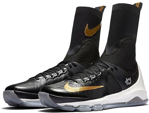 check out fab58 0e1fe Nike KD 8 Elite Scarpe da Basket Uomo, Nero (Negro (Black Metallic
