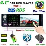 """Hoidokly Universal Car MP5 Player Autoradio 1 Din Autoradio mit 4.1"""" Bildschirm und Rückfahrkamera, Auto Radio mit Bluetooth und USB Schnelle Aufladung, AM/FM/RDS, TF Port, Aux In, SWC Fernbedienung"""