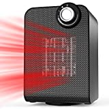 OPOLAR 1500w Thermostat Control, Quiet Operation, Compact Personal Powerful Auto Oscillating Space Heater